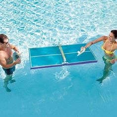water pingpong = Moo I am going to get this and I am not going to play with you cause you think I look to much at Pinterest and that is false and hurtful so no pool pingpong for you!