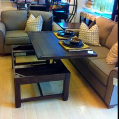 coffee table that converts to a dining table ikea saw this on HGTV