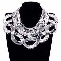 ARRIVED!!! Beautiful chunky silver choker necklace Multi strand silvers snake chain chunky  choker necklace.  Gorgeous for the upcoming holidays.  I will order in gold if that is the preferred color. Jewelry Necklaces