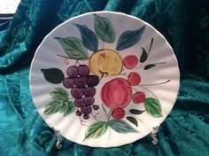 Items similar to Blue Ridge China Luncheon Plate - Fruit Punch Pattern on Etsy Fruit Punch, China Plates, Blue Ridge, Vintage Love, Vintage Kitchen, Dinnerware, Kitchens, Unique Jewelry, Handmade Gifts