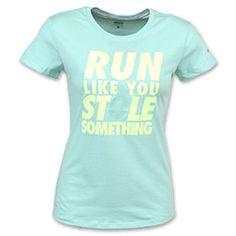 Running Vest Funny Womens Sports Performance Singlet Run Like You Stole Someth