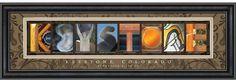 Keystone, Colorado Letter Art  #keystone #colorado