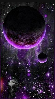 Planets Wallpaper, Wallpaper Space, Purple Wallpaper, Galaxy Wallpaper, Beautiful Moon, Beautiful Nature Wallpaper, Galaxy Art, Galaxy Space, Universe Art