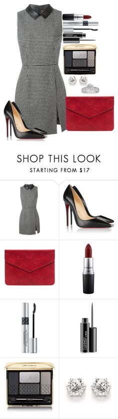 """Untitled #1286"" by fabianarveloc on Polyvore featuring Yves Saint Laurent, Christian Louboutin, MAC Cosmetics, Christian Dior, Guerlain and Tiffany & Co."