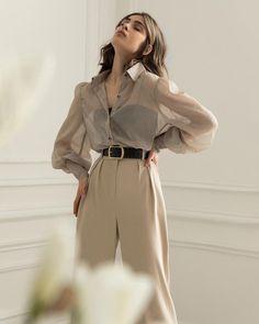 Korean Outfits, Mode Outfits, Fashion Outfits, Workwear Fashion, Fasion, Hijab Fashion, Look Fashion, Korean Fashion, Fashion Design