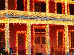 Texas Hill Country Christmas lites. Johnson City Texas