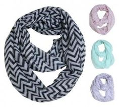 Chevron Striped Infinity Scarf (various colors) $5.75 + Free shipping @ Pink Epromise - HotDeals Check us out at www.hotdeals.com or on fb! www.facebook.com/hotdealscom