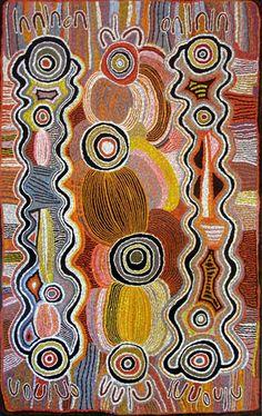 Maggie Watson Napangardi ~ Snake Vine Dreaming, 1992