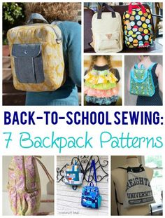 Back-to-School Basics: 7 Backpack Sewing Patterns Thought this was pretty cute <3