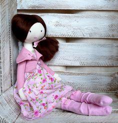 Rag doll, handmade doll, balerina doll, gift for girl, cloth doll,  £29.50