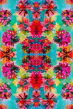 ☮ American Hippie Psychedelic Art ~ Pattern Design Wallpaper