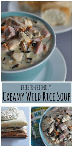 Creamy Wild Rice soup is a Minnesota classic filled with ham, chicken and wild rice. This is an easy Minnesota comfort food recipe, creamy like the Byerlys recipe only better! http://diningwithalice.com/comfort-foods/minnesota-wild-rice-soup/