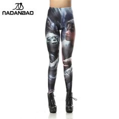 NADANBAO Brand Fashion Star Wars Yoda Luke Skywalker Legins Printed Sexy Leggins Women Leggings Women Pants