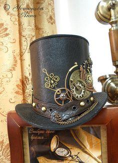Головные уборы ручной работы. Ярмарка Мастеров - ручная работа Стимпанк Цилиндр, шляпка, шляпка в стиле стимпанк/ Steampunk. Handmade.