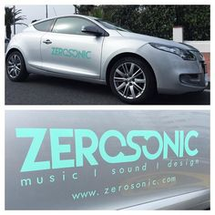Car Branding done... Yay! #carbranding #zerosonic #car #music #sound #design