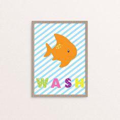 Wash Brush Flush 3 Nursery/kids wall arts for bathroom!! #washbrushflush #bathroomdecor #kidsbathroom #etsybabyshop #instantdownload