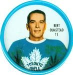 1962-63 Shirriff Coins #11 Bert Olmstead Front