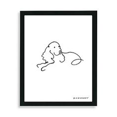 Pay tribute to a favorite canine companion with the framed Spaniel Dog Line Drawing. The artist captures the breed's classic characteristics with minimal embellishment.