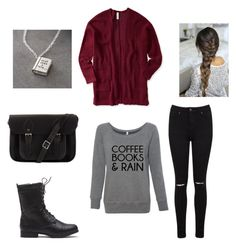 cozy day out with your bestie by rubygirl645 on Polyvore featuring polyvore fashion style Aéropostale Miss Selfridge The Cambridge Satchel Company Once Upon a Time clothing