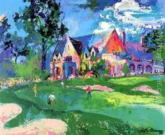 Winged Foot golf course - leroy neiman