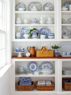 Beautiful Blue and White Display