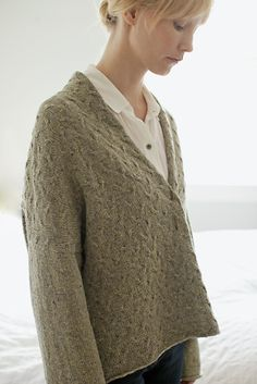Ando Sweater by Brooklyn Tweed. You can purchase their patterns right off the website as a PDF download and order their wool online.