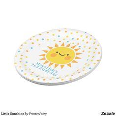 Little Sunshine Paper Plate - summer gifts season diy template ideas Sunshine Birthday Parties, Baby Birthday, Birthday Gifts, Princess Birthday, Paper Napkins, Paper Plates, Summer Gifts, Cake Servings, 1st Birthdays