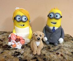 Fondant Wedding  Cake Topper (bride and groom)