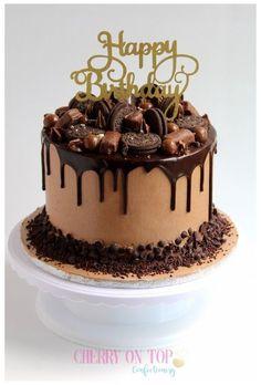 Chocolate Cake Designs, Chocolate Oreo Cake, Chocolate Recipes, Nutella Cake, Rocher Chocolate, Ferrero Rocher, Chocolate Cheesecake, Chocolate Coffee, Chocolate Truffles
