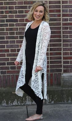Connie Victorian Modern Vintage Lace Cardigan Duster In Ivory Verducci Clothing Apparel, Ladies Lace Duster, Ivory Duster, Womans lace duster, Ladies cardigan Verducci Clothing Duster] Long Kimono Outfit, Lace Outfit, Vintage Stil, Looks Vintage, Vintage Lace, Boho Outfits, Trendy Outfits, Fashion Outfits, Womens Fashion