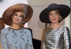 Queen Mathilde and Queen Maxima at the start of the Belgium Royal State Visit to The Netherlands. Nov 28, 2016.