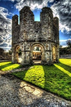 Ruins of old Mellifont Abby, County Louth, Ireland