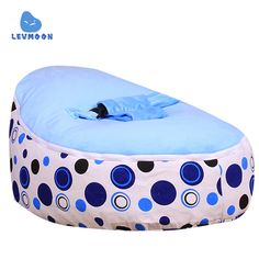 Cheap bed for kids, Buy Quality bed for children directly from China bed portable Suppliers: Levmoon Medium Blue Circle Print Bean Bag Chair Kids Bed For Sleeping Portable Folding Child Seat Sofa Zac Without The Filler Types Of Sofas, Kids Seating, Kid Beds, Kids Furniture, Bean Bag Chair, Prints, Things To Sell, Decoration, Fur Bean Bag
