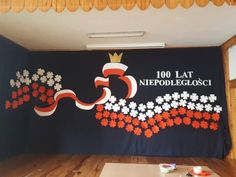 Indonesian Independence, Diy And Crafts, Crafts For Kids, Polish Language, School Decorations, Birthday Board, Independence Day, Red And White, Backdrops