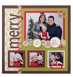 Christmas idea - like the large pic, then several small ones