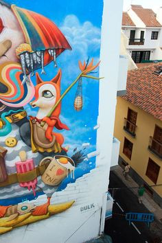 Street art work 'Island memories' by Dulk