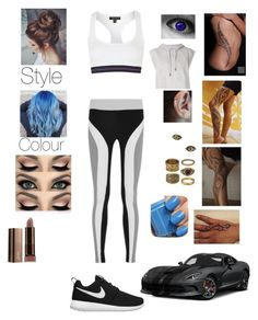 """Untitled #207"" by lumsdenk on Polyvore featuring Matchless, Pamela Love, Essie, No Ka'Oi, Topshop, adidas and NIKE"