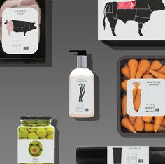 Food Packaging Concept by Nick Hill, via Behance - Vaya! Hasta que me vuelvo a enamorar del Diseño Gráfico, chulada.