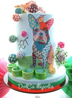 Colourful Puppy Cake