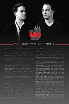 Sheldon's roommate agreement