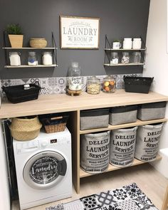 Home Sweet Home: These Are the Biggest Home Décor Trends of 2019 Laundry Room Remodel, Laundry Room Organization, Laundry Room Design, Organizing, Style At Home, Laundy Room, Laundry Room Inspiration, Online Furniture Stores, Furniture Shopping