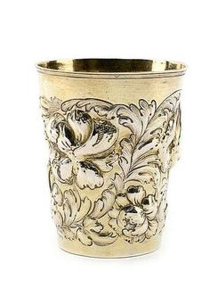 "A German silvergilt Baroque beaker, c. 1680. Later dated and marked at Berlin, c. ""1772"". © 2010 Nagel - Auctions  C. 150g. Minor restoration. H. 13 cm - Estimate (EUR) 1700"