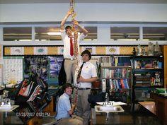 Flashback Friday: 2007 genetics class building DNA