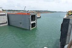Exitosas pruebas de apertura y cierre de compuerta en Gatún