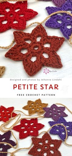 Christmas Star Fun Ornament Free Crochet - Christmas Decorations Crochet Ornaments - Christmas Star Fun Ornament Free Crochet Aren't those stars beautifully detailed? They look like real snowflakes! It's a fast and fun project, that is very easy to make. Crochet Star Patterns, Christmas Crochet Patterns, Crochet Stars, Holiday Crochet, Crochet Snowflakes, Crochet Gifts, Crochet Motif, Crochet Designs, Crochet Flowers