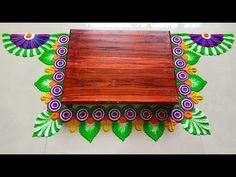 Diwali Special Rangoli Design, Easy Rangoli Designs Diwali, Indian Rangoli Designs, Rangoli Designs Latest, Rangoli Designs Flower, Rangoli Ideas, Colorful Rangoli Designs, Flower Rangoli, Beautiful Rangoli Designs