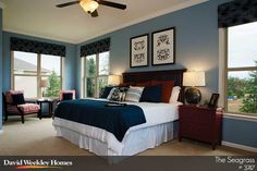 Owner's Retreat in The Seagrass Model - Charlotte, NC. David Weekley Homes