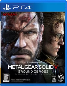 #PS4 Metal Gear Solid V Ground Zeroes Box Art