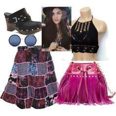 Lucy Hale by joeyrenae on Polyvore featuring polyvore fashion style UGG Australia Diane Von Furstenberg Linda Farrow