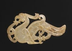Jade Bird Subduing Two Snakes, Chinese, 4th century BC
